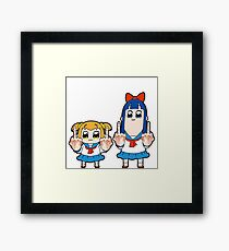 Pop Team Epic - middle finger Framed Print