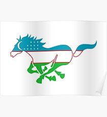 Flag Karabair of Uzbekistan Poster