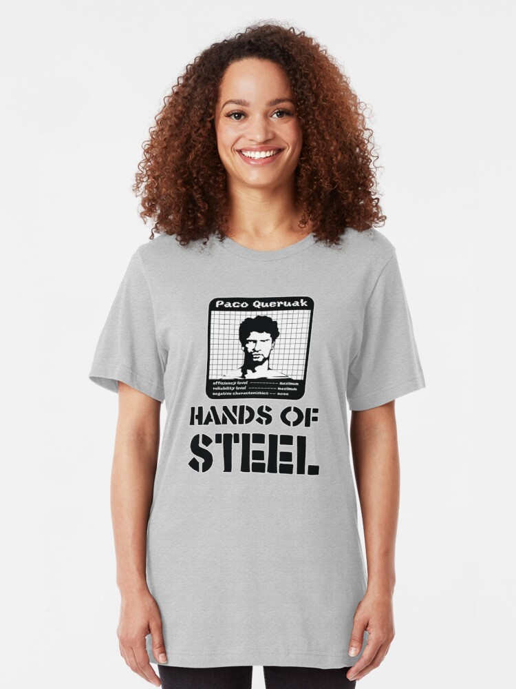 Alternate view of Paco Queruak - Hands Of Steel Slim Fit T-Shirt