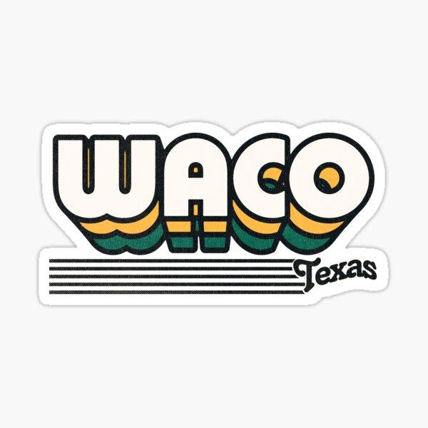 Waco. Renvoyez-le dans les années 70 avec un style vintage et des couleurs rétro. Représentant dans tout le Texas. Disponible sur une large gamme de produits. Autocollants pour vos ordinateurs portables Sticker