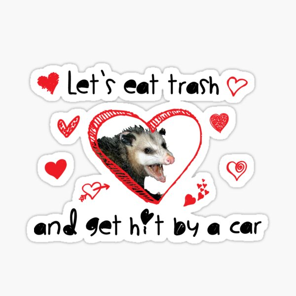 Be My Possum Valentine Sticker