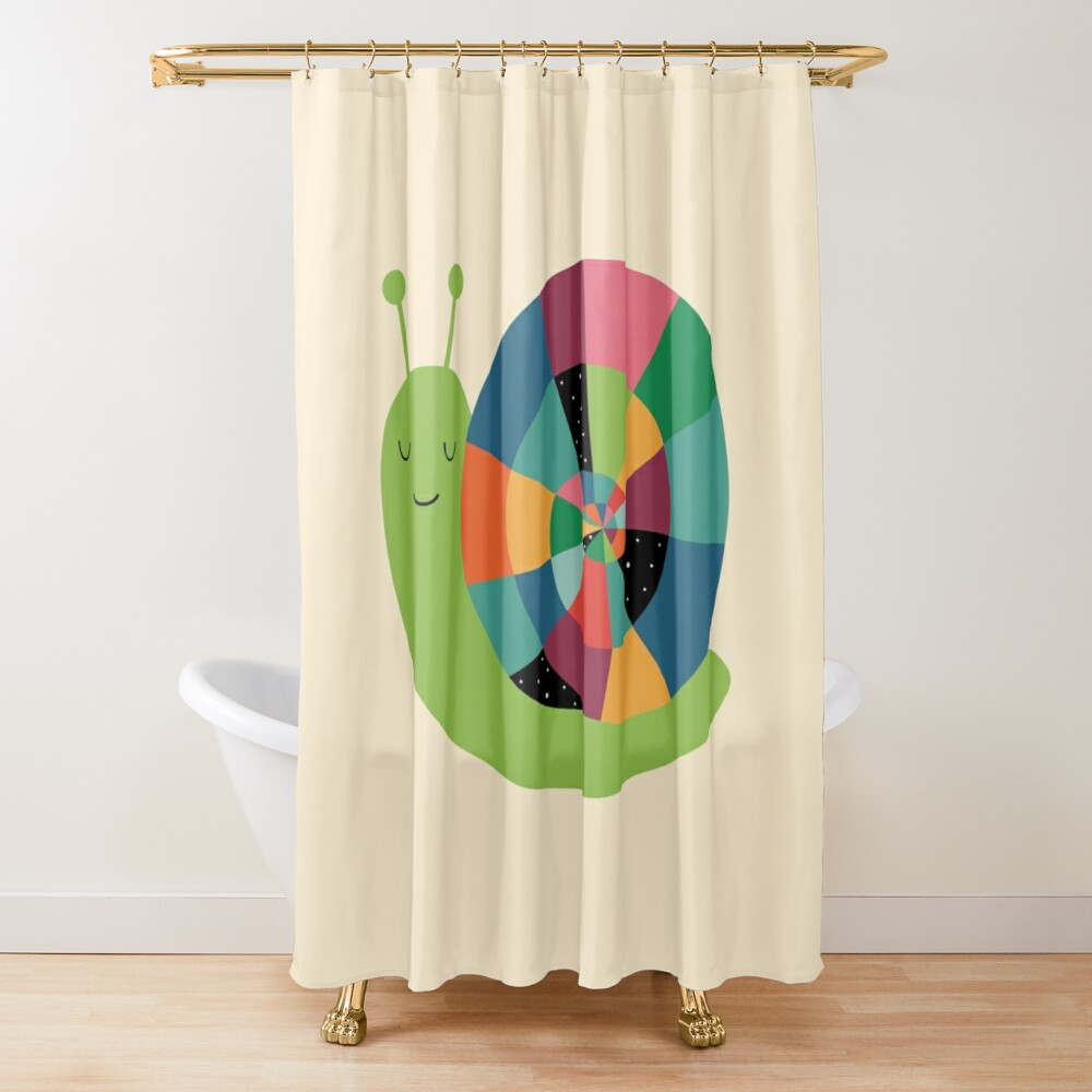 Snail Time Shower Curtain