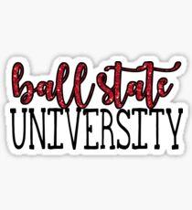 Ball State University Sparkle Sticker