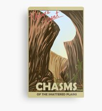 Chasms of the shattered plains travel poster Metal Print