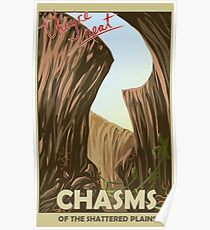 Chasms of the shattered plains travel poster Poster