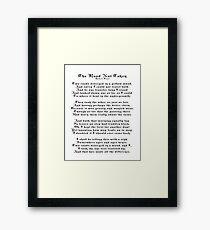 The Road Not Taken, Poem by Robert Frost Framed Print