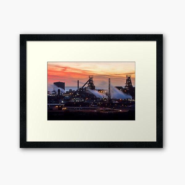 Port Talbot Steelworks at Dusk Framed Art Print