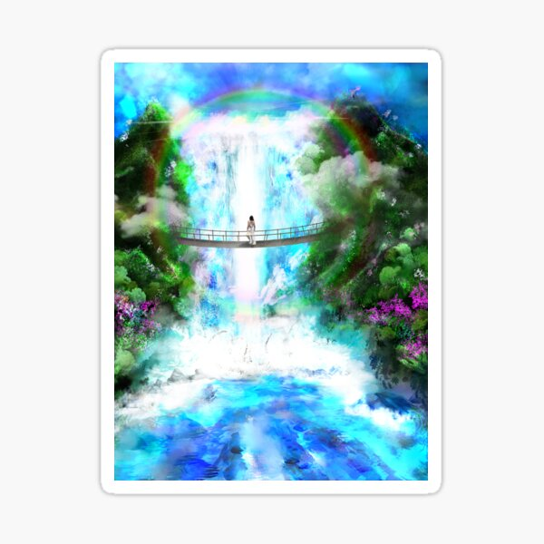 Waterfall of Light Sticker