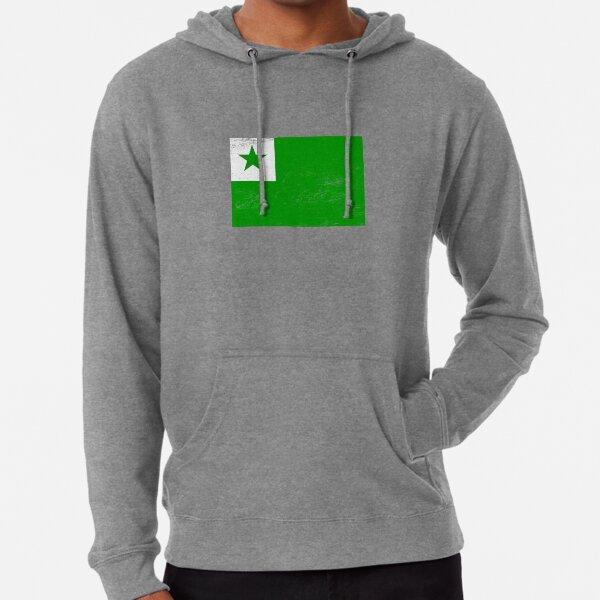 Distressed Esperanto Flag Lightweight Hoodie