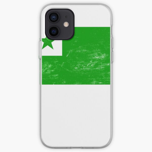 Distressed Esperanto Flag iPhone Soft Case