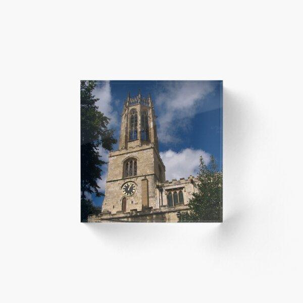 All Saints, The Pavement, York Acrylic Block