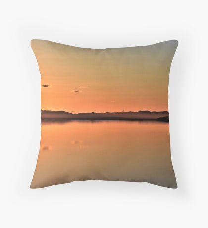 Sunset at The Great Salt Lake Throw Pillow