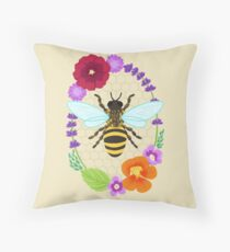 Plant These for the Bees Throw Pillow
