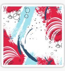 Red blue paint Sticker