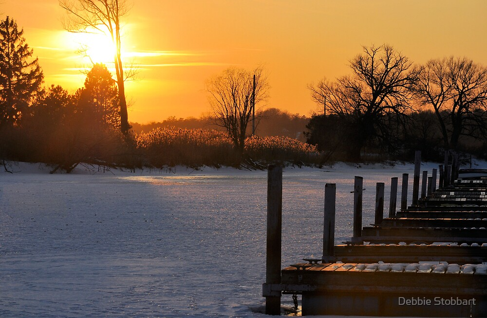 Frozen Docks by Debbie Stobbart