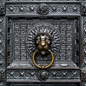 Doorknocker Lion - Black / Gold by BonniePhantasm