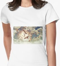 Seagull Flying Women's Fitted T-Shirt