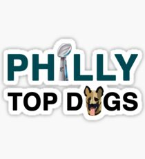 EAGLES PHILLY TOP DOGS  Sticker