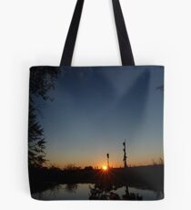 Sunset  with Rays Tote Bag
