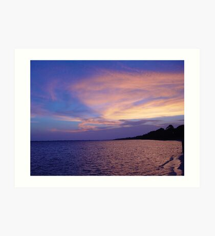 Sunset on St. Andrews Bay Art Print