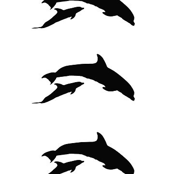 Three couples of dolphins (stickers) by ilmagatPSCS2