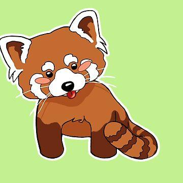 Cute Red Panda Illustration by adriennecsedi