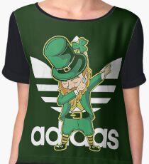 Funny Saint Patrick's Day Shirts - Dabbing Dab Chiffon Top