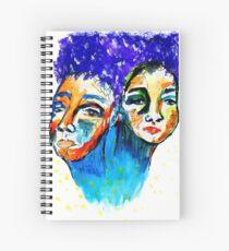 purple hair Spiral Notebook