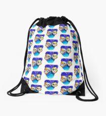 purple hair Drawstring Bag