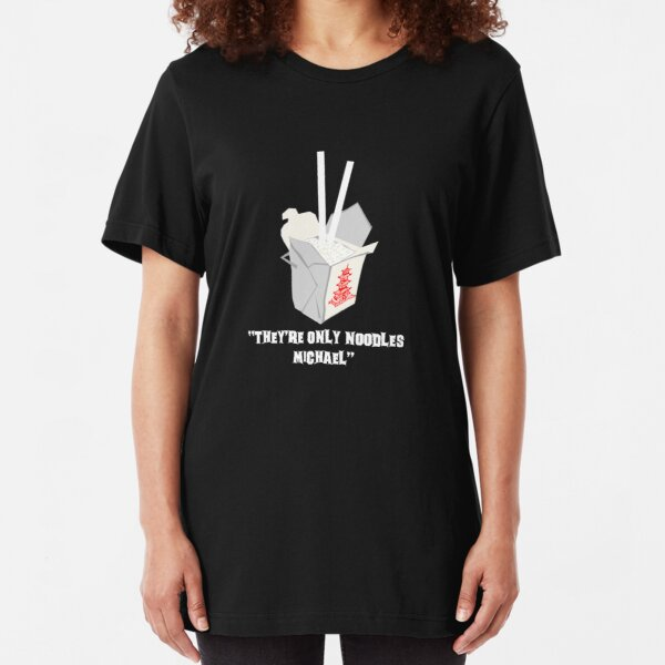 They're Only Noodles Michael Slim Fit T-Shirt