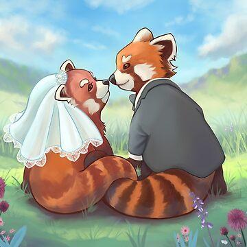 Cute Red Panda Couple by adriennecsedi