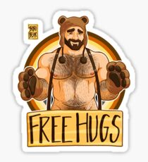 ADAM LIKES HUGS - BEAR PRIDE Sticker