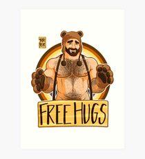 ADAM LIKES HUGS - BEAR PRIDE Art Print