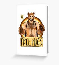ADAM LIKES HUGS - BEAR PRIDE Greeting Card