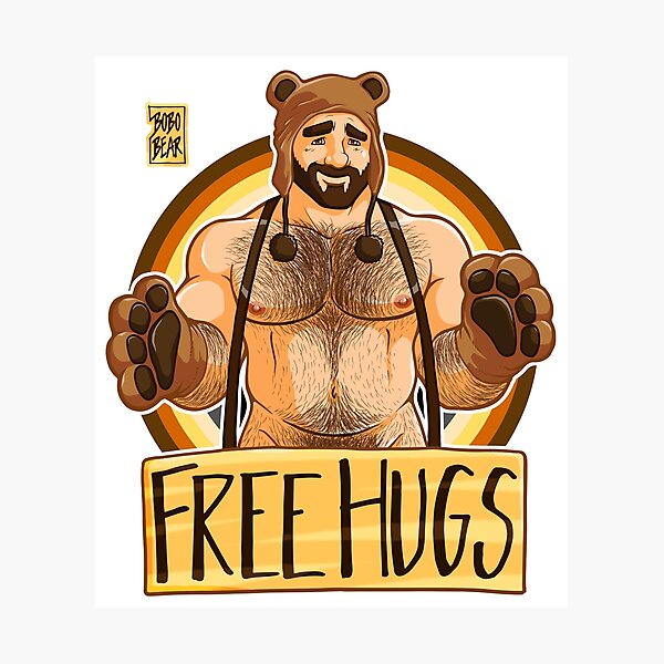ADAM LIKES HUGS - BEAR PRIDE Photographic Print
