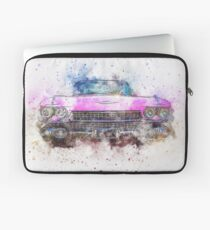 Vintage Pink Cadillac Splash!  Laptop Sleeve