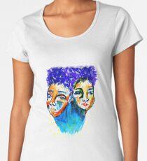 purple hair Premium Scoop T-Shirt