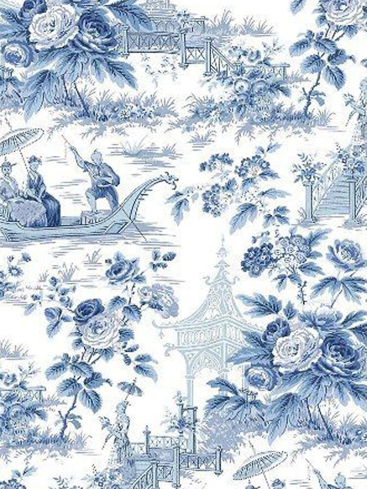 Powder Blue Chinoiserie Toile by TheChinoiserie