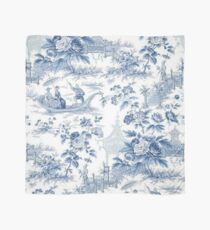 Powder Blue Chinoiserie Toile Scarf