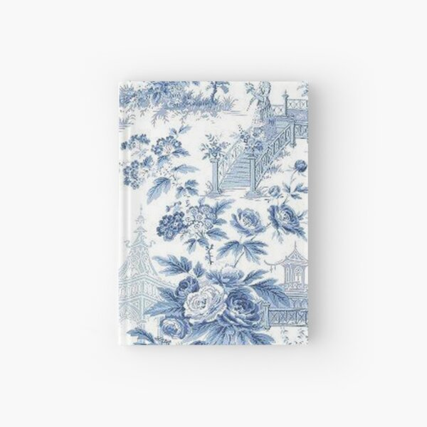 Powder Blue Chinoiserie Toile Hardcover Journal