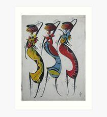 Afrikanerin, die Kopf weitermacht Kunstdruck
