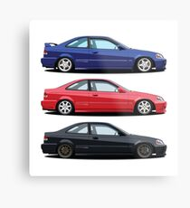 Civic Si and Friends Metal Print
