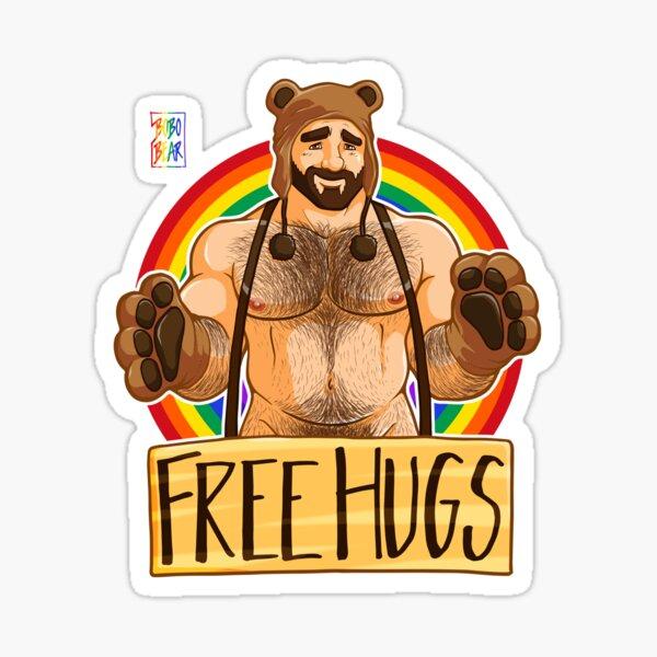 ADAM LIKES HUGS - GAY PRIDE Sticker