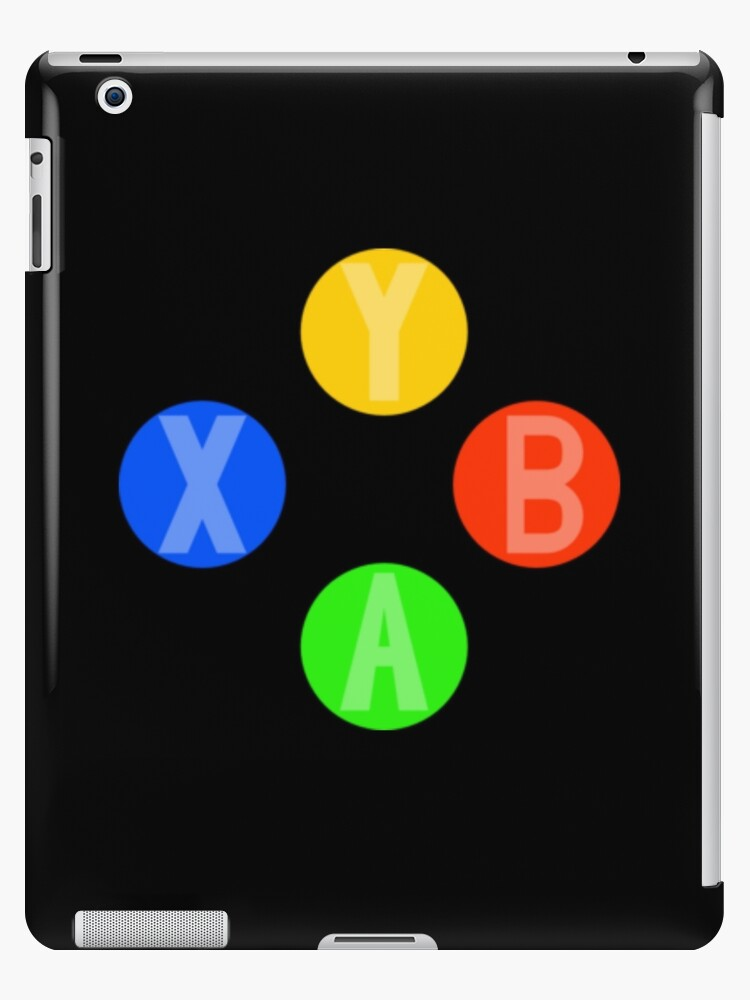 'Xbox 360 / Xbox One Controller Buttons A, B, X and Y' iPad Case/Skin by  Ange26