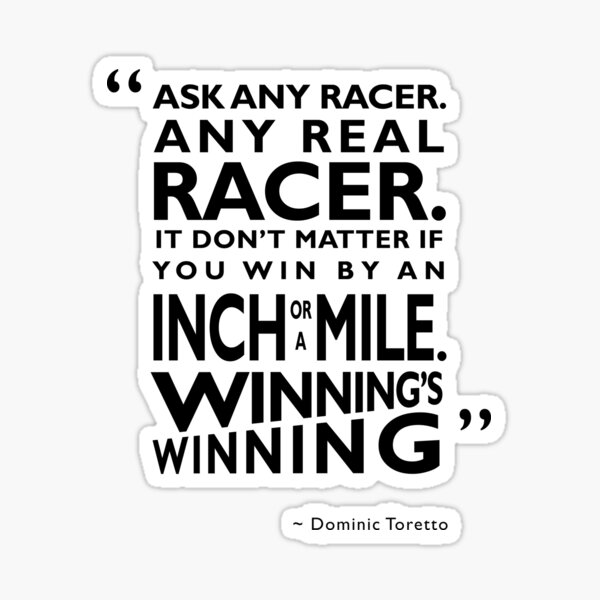 Ask Any Racer Sticker