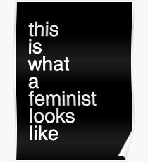 Helvetica Feminism Poster