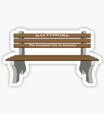 Baltimore Bench- Greatest City in America Sticker