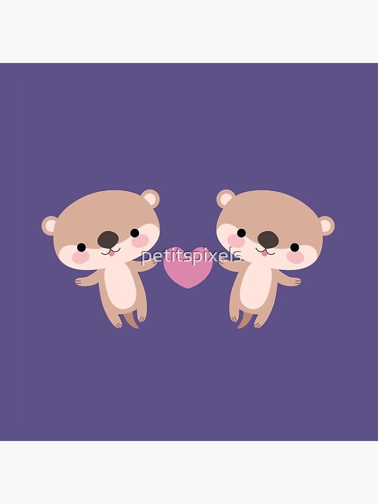 Kawaii otters by petitspixels