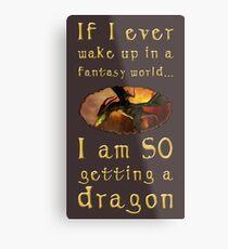 Fantasy Dragon Metal Print