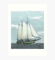 Sailing clipper Kaat Mossel Art Print
